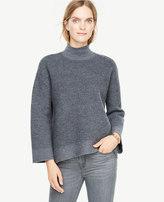 Ann Taylor Boiled Wool Turtleneck Sweater
