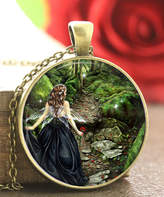 Designs By Karamarie Designs by KaraMarie Women's Necklaces - Green & Bronzetone Glass Forest Princess Pendant Necklace