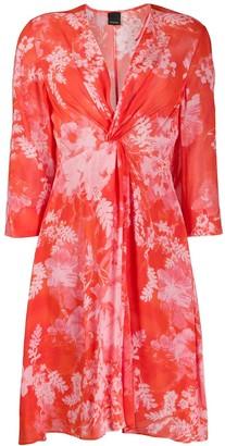 Pinko floral print knot dress
