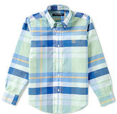 Brooks Brothers Little/Big Boys 4-20 Non-Iron Bold Plaid Oxford Shirt