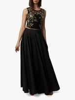 Raishma Taffeta Maxi Skirt, Black