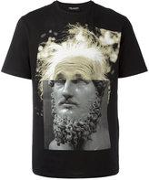 Neil Barrett Einstein statue print T-shirt