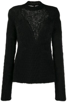 Unravel Project Slim-Fit Inlay Knit Jumper
