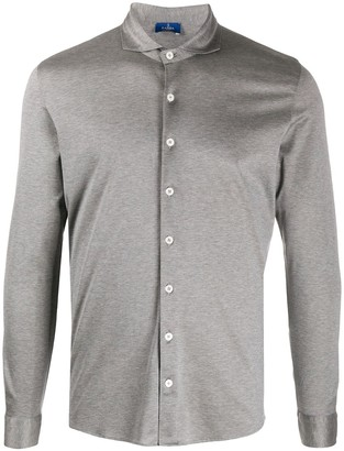 Barba Jersey Cotton Button-Up Shirt