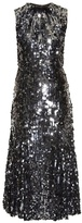 Dolce & Gabbana Sequin-embellished fluted midi dress