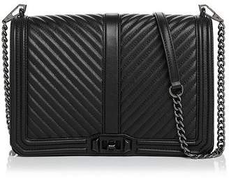Rebecca Minkoff Love Chevron Quilted Jumbo Leather Crossbody