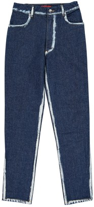 Eckhaus Latta Blue Cotton Jeans for Women