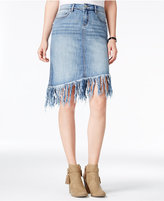 William Rast Fringe Denim Skirt