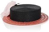 Albertus Swanepoel Women's 10th Anniversary Desborough Boater Hat-BLACK