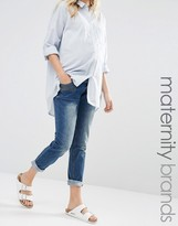 Mama Licious Mama.licious Mamalicious Maternity Jeans In Slim Fit With Zip Pocket