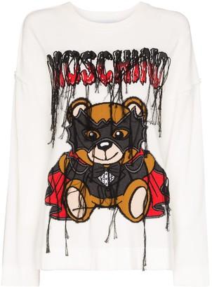 Moschino Dracula Teddy logo jumper