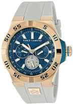 Vince Camuto Men's VC/1010SBRG The Master Multi-Function White Silicone Strap Watch