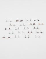 Full Tilt 20 Pairs Wishbone Stone Bird Earrings