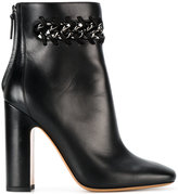 Valentino Garavani Valentino woven chain detail ankle boots - women - Leather - 36.5