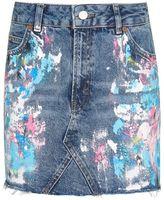 Topshop Moto paint splatter skirt