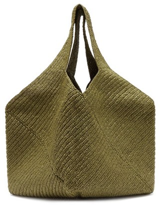 LAUREN MANOOGIAN Pinwheel Crocheted-tape Tote Bag - Khaki