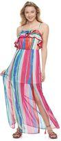 Candies Juniors' Candie's® Print Ruffle Maxi Dress