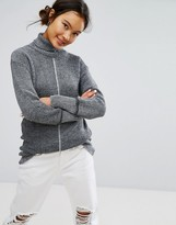 Daisy Street Cocoon Sweater With Tonal Details