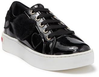 Love Moschino Faux Fur Heart Applique Platform Sneaker