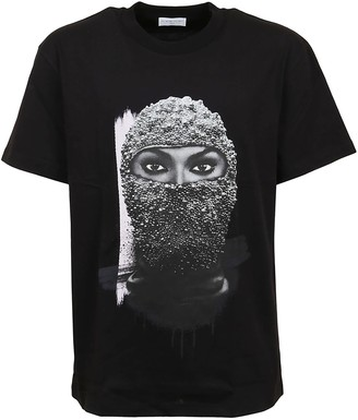 Ih Nom Uh Nit T-shirt Classic Fit With Black Pearl Woman Mask On Front