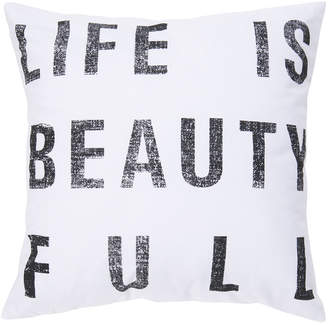 Surya Typography Down Fill Throw Pillow