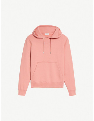 Sandro Logo embroidered cotton-jersey hoody