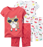 Carter's 4-pc. Dog Pajama Set - Baby Girls newborn-24m