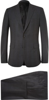 Givenchy - Charcoal Slim-fit Checked Stretch-wool Suit
