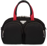 Prada padded nylon top-handle bag