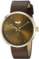 Vestal Unisex RST3L04 Roosevelt Leather Analog Display Quartz Brown Watch