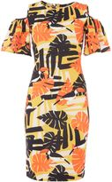 Therapy Kiki cold shoulder toucan print dress