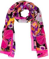 Moschino Floral Print Silk Scarf