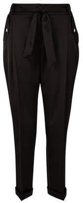 Dorothy Perkins Womens Black Luxe Cargo Tie Trousers, Black
