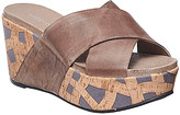 Antelope Women's Sandals Grey - Gray & Brown Geometric Slip-On Leather Wedge Sandal - Women