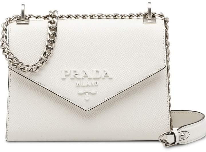 04613c4ea7ab Prada White Saffiano Leather Handbags - ShopStyle