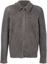 Salvatore Santoro - welt pockets zipped jacket - men - Leather - 48