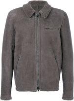 Salvatore Santoro - welt pockets zipped jacket - men - Leather - 52