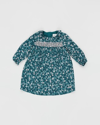 Carrément Beau Floral Long Sleeve Dress - Babies