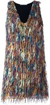 Marco De Vincenzo fringed mini dress - women - Polyester/Acetate/Viscose - 40