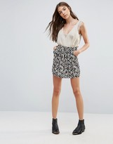 Brave Soul Printed Mini Skirt