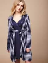 Motherhood Maternity Clip Down Satin Trim Nursing Nightgown And Robe Set