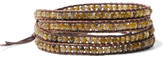 Chan Luu Silver-Tone Beaded Leather And Cord Wrap Bracelet