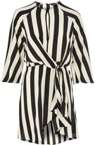 Topshop PETITE Stripe Knot Front Dress