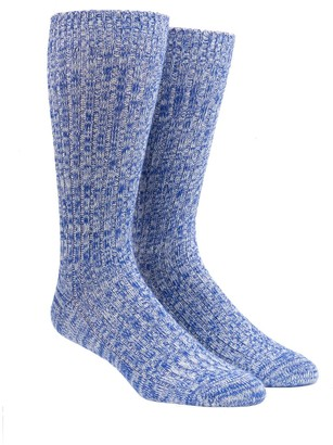 The Tie Bar Dress Camp Cobalt Socks