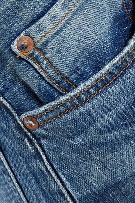 Rag & Bone Maya Cropped Faded High-rise Straight-leg Jeans