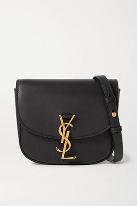 Saint Laurent Kaia Medium Leather Shoulder Bag - Black