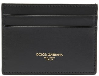 Dolce & Gabbana Logo-print Leather Cardholder - Black
