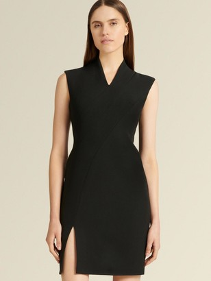 DKNY Donna Karan Women's Sleeveless V-neck Dress - Black - Size 0