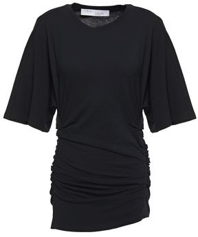 IRO Frothy Ruched Cotton-jersey T-shirt