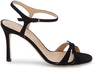 Sergio Rossi Suede Ankle-Strap Sandals